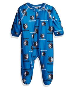 NBA Infant Timberwolves Sleepwear All Over Print Zip Up Cove