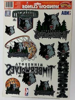 "NBA Minnesota Timberwolves 11"" x 17"" Sheet of Window Clings,"
