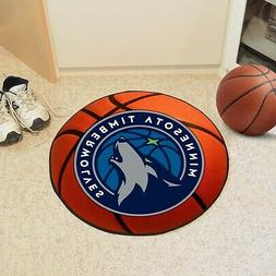 FANMATS NBA Minnesota Timberwolves Nylon Face Basketball Rug