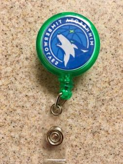 NBA Minnesota Timberwolves Retractable Badge Reel ID Holder