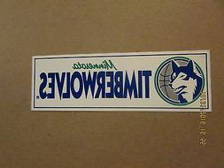 NBA Minnesota Timberwolves Vintage 1980's Logo Basketball Bu