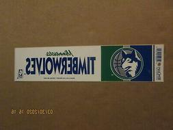 NBA Minnesota Timberwolves Vintage 1990's Team Logo Basketba