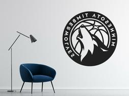NBA Minnesota Timberwolves Wall Decal Vinyl Basketball Team