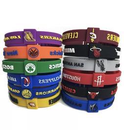 NBA Silicone Wristband Adjustable Clasp Bracelet Cavaliers W