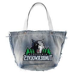 NBA Vintage Tote Bag, Minnesota Timberwolves, Denim