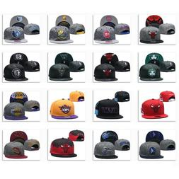 New Embroidered All Teams Logo Basketball Hat Flat Brim Adju