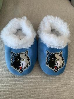 Newborn Infant Minnesota Timberwolves Slippers