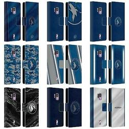 OFFICIAL NBA MINNESOTA TIMBERWOLVES LEATHER BOOK CASE FOR SA