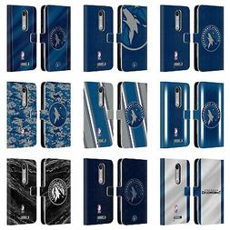 OFFICIAL NBA MINNESOTA TIMBERWOLVES LEATHER BOOK CASE FOR MO
