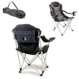 Reclining Camp Chair-Black  Digital Print Tailgate Recli