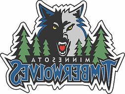 Retro Minnesota Timberwolves NBA Basketball Bumper sticker v