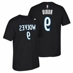 Ricky Rubio Minnesota Timberwolves NBA Adidas Men Black Name