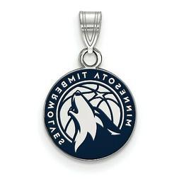 Stg Silver NBA Basketball Licensed Minnesota Timberwolves Sm