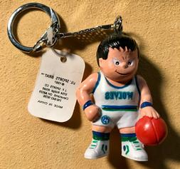 Vintage MINNESOTA TIMBERWOLVES Basketball Collectible Keycha