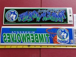 vintage minnesota timberwolves bumper stickers 80 90