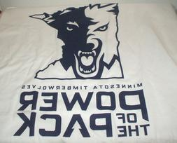 Vintage Minnesota Timberwolves Power of the Pack Tee T Shirt