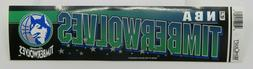 Vintage NBA Basketball MINNESOTA TIMBERWOLVES Sports Bumper