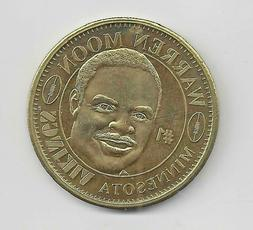 Warren Moon 1998 Pinnacle NFL Quarterback Club Coin Vikings